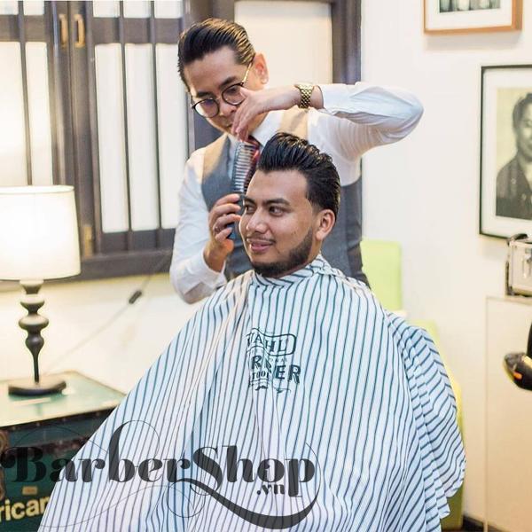 Áo Choàng Sọc Barber Wahl Professional